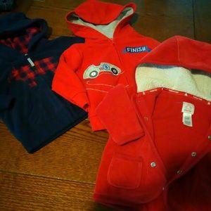 NWOT 6/9 mo namebrand hoodies